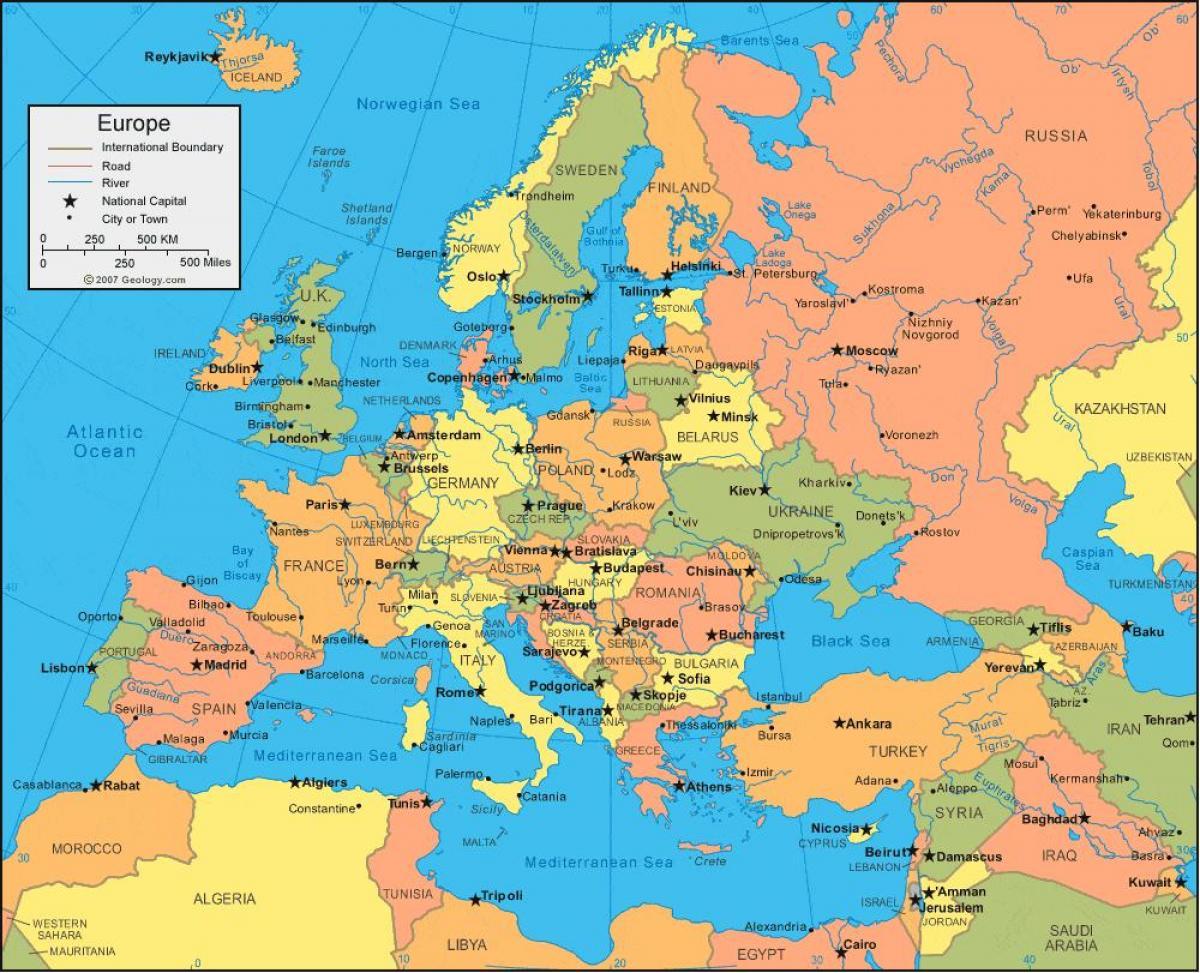 Kort Over Tyrkiet Og Europa Kort Over Tyrkiet Og Europa Det